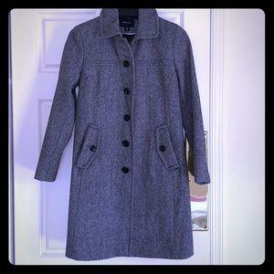 Lands End Women's Wool Dress Coat